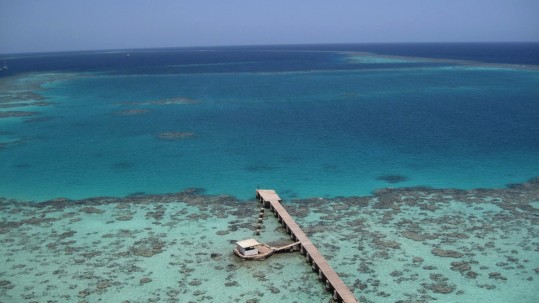 Sanganeb Lagoon from the Light House